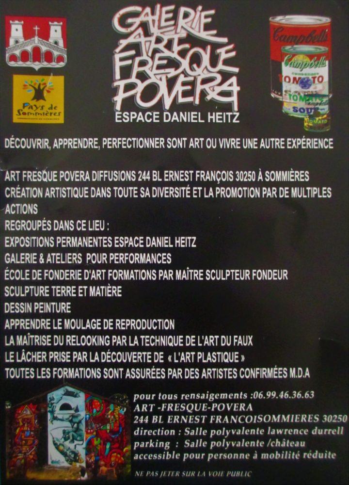 Exposition permanente à la Galerie Art Fresque et Povera