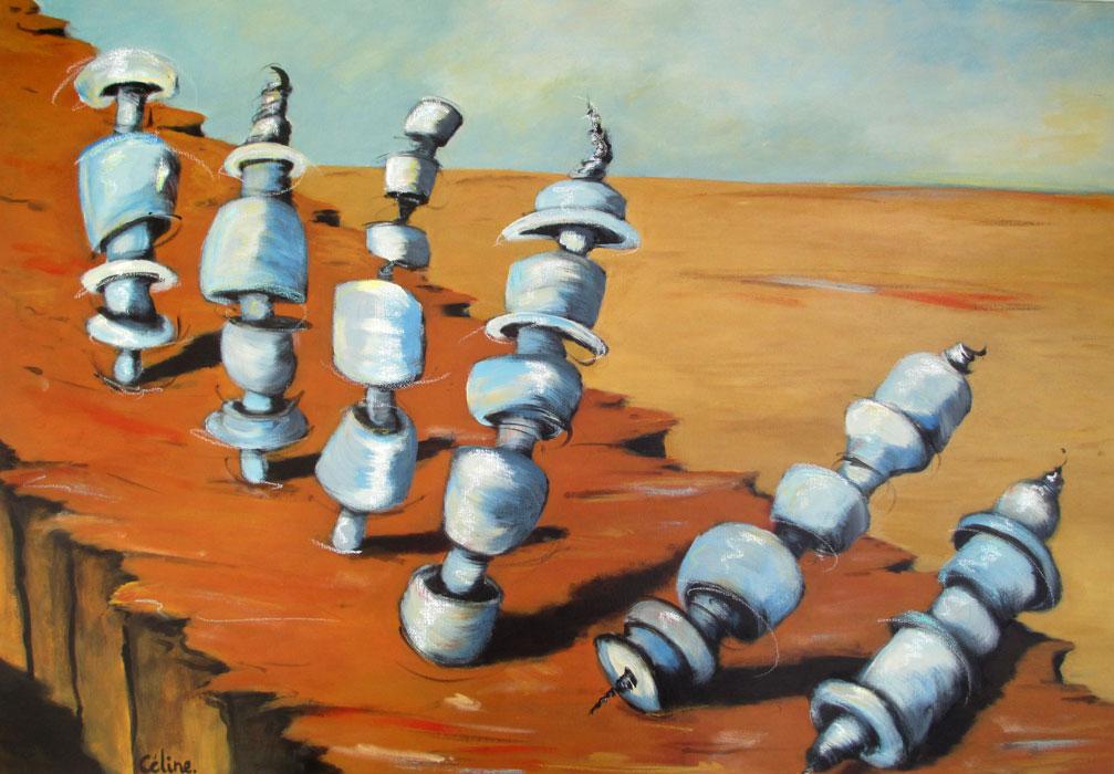 La chute II. Acrylique sur toile. 116x81. 2017