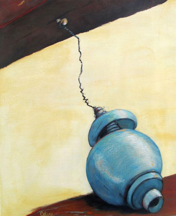 Planche et objet III. 61x50 cm. Acrylique sur toile. 2019