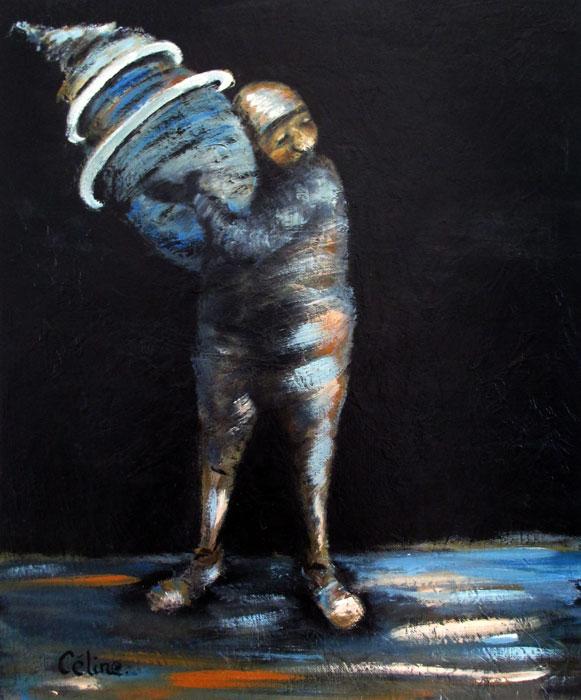 Dans les bras. 46x38 cm. Acrylique sur toile. 2016