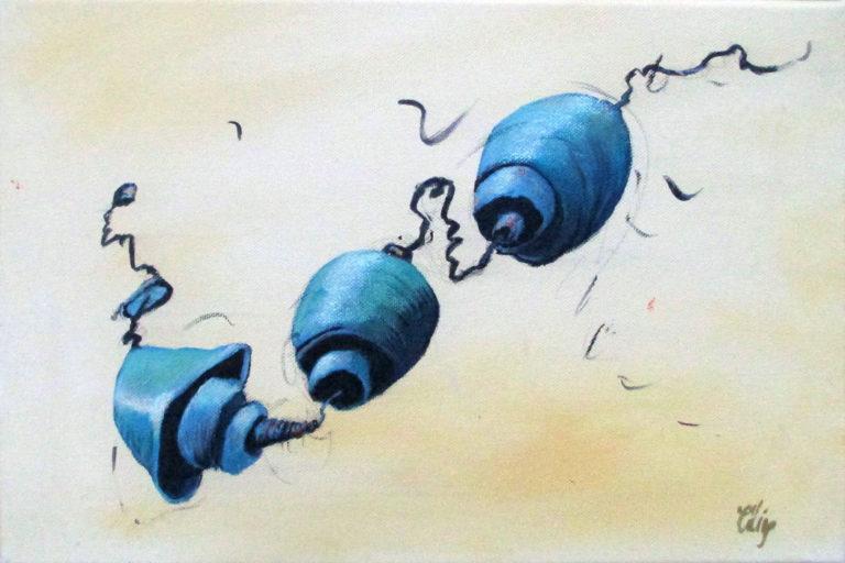 Volutes dans les airs I. 22x33 cm. 2019. Acrylique sur toile