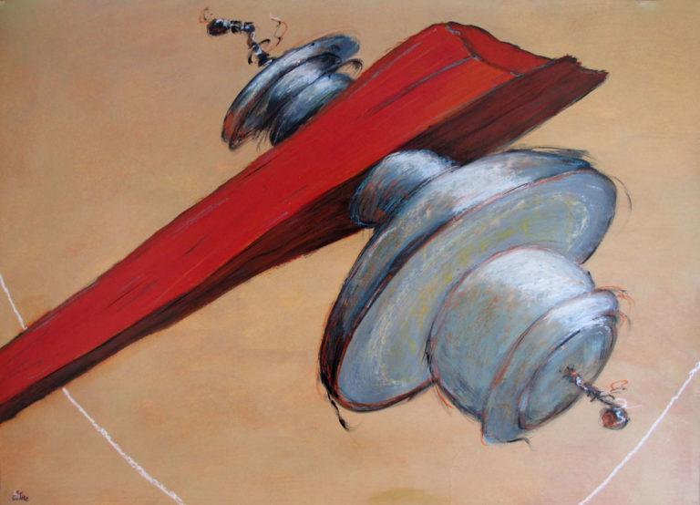 """""""La planche II"""". 50x70 cm. Acrylique sur papier. 2018."""
