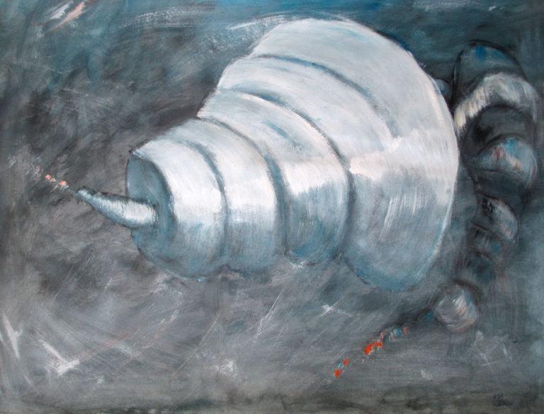 """""""La volute II"""". 50x60 cm. Acrylique sur papier. 2016."""