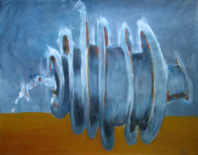 """""""Volute-III"""". 50x65 cm. Acrylique sur papier. 2016."""